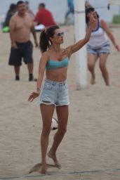 Alessandra Ambrosio in a Bikini Top at the Beach in Santa Monica 09/02/2019