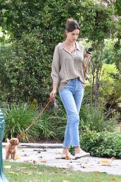 Alessandra Ambrosio Walking Her Dog in Brentwood 09/16/2019