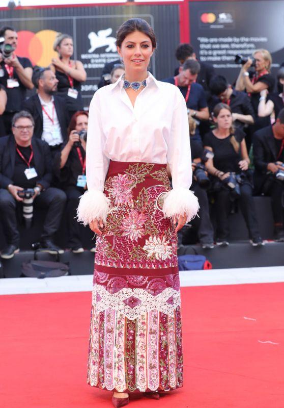 """Alessandra Mastronardi on Red Carpet – """"Joker"""" Screening at the 76th Venice Film Festival"""
