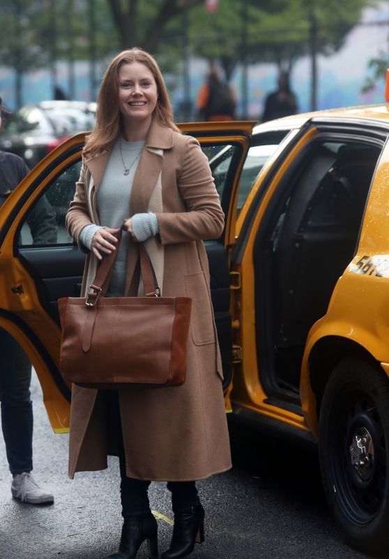 """Amy Adams - Filming """"The Woman In The Window"""" in New York City 09/27/2019"""