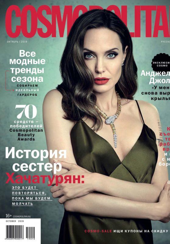 Angelina Jolie - Cosmopolitan Russia October 2019 Issue