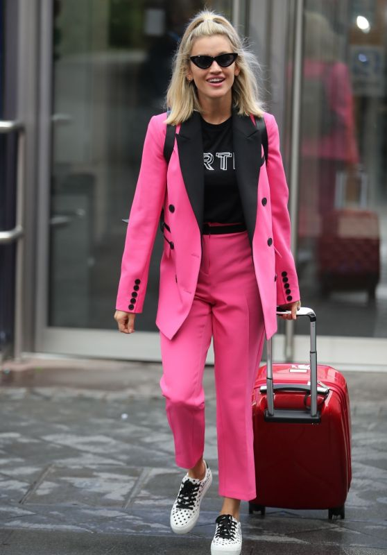 Ashley Roberts - Exit From Heart Radio in London 09/26/2019