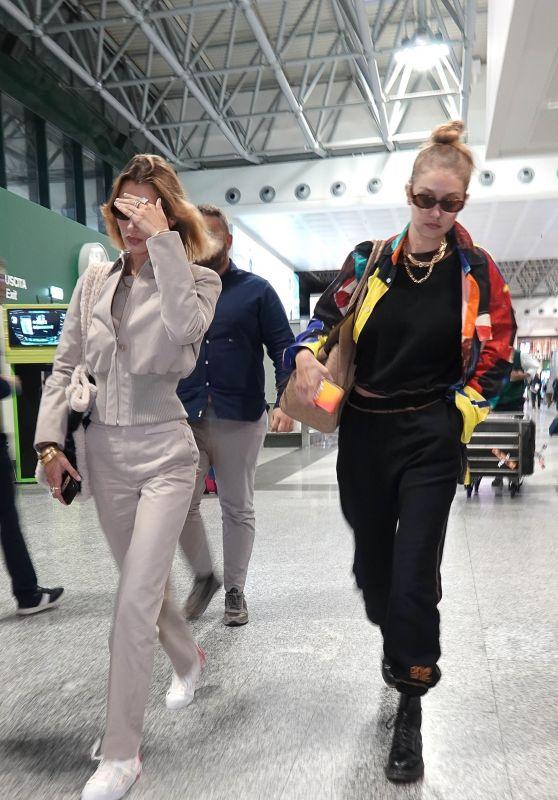 Bella Hadid and Gigi Hadid - Malpensa Airport in Milan 09/22/2019