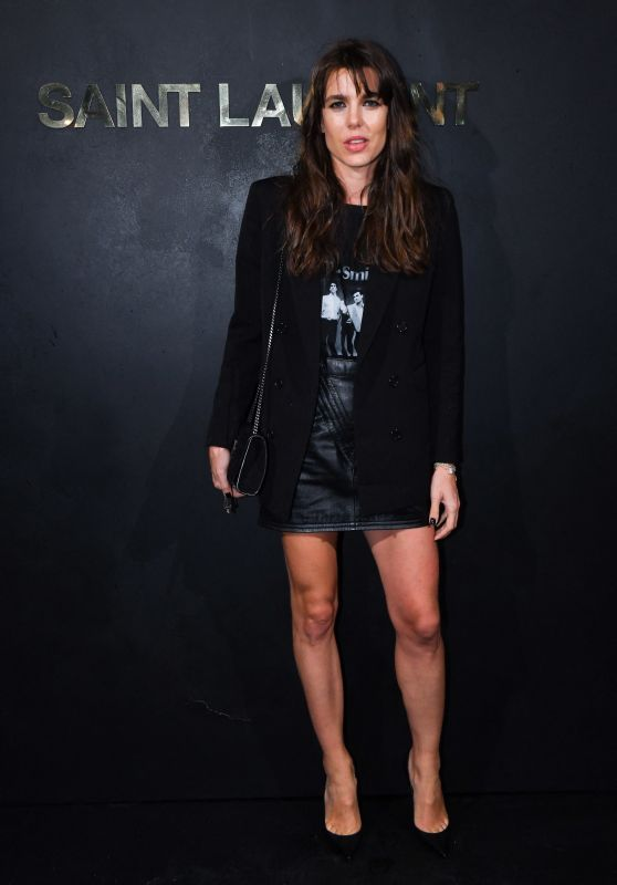 Charlotte Casiraghi – Saint Laurent Show at Paris Fashion Week 09/24/2019