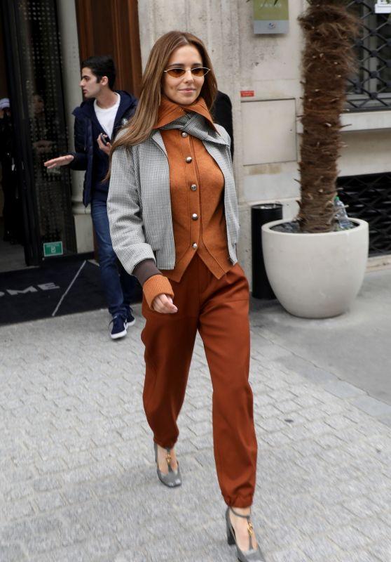 Cheryl Tweedy - Leaving Her Hotel in Paris 09/28/2019