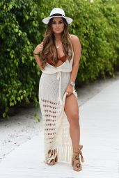 """Courtney Green – """"The Only Way Is Essex"""" TV Show Filming in Marbella 09/21/2019"""