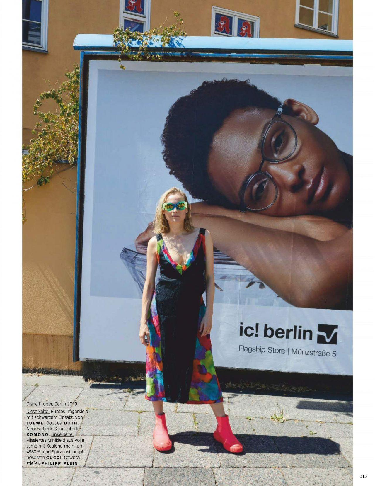 Диана Крюгер купается в фонтане в съемке немецкого Vogue (фото 8)