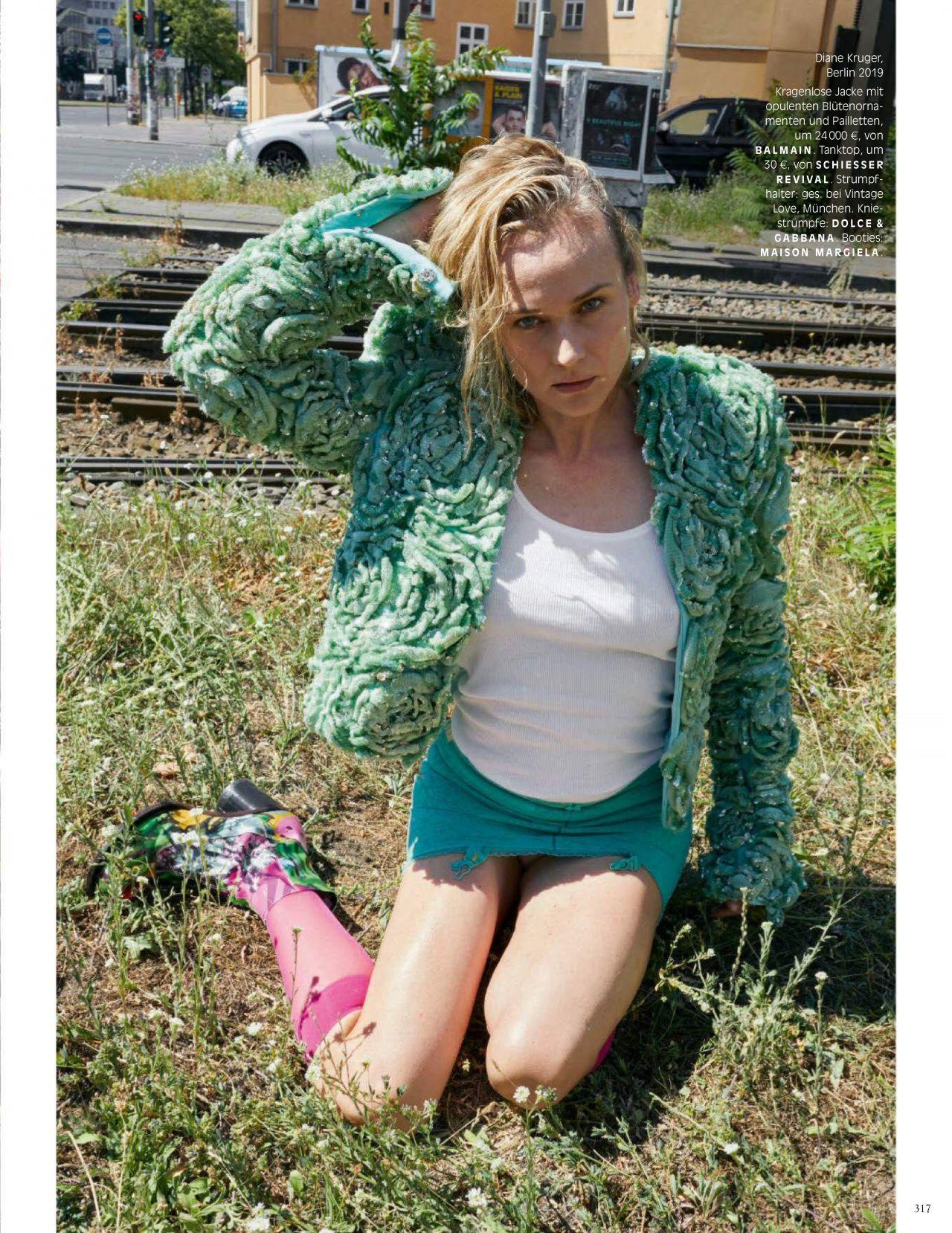 Диана Крюгер купается в фонтане в съемке немецкого Vogue (фото 10)