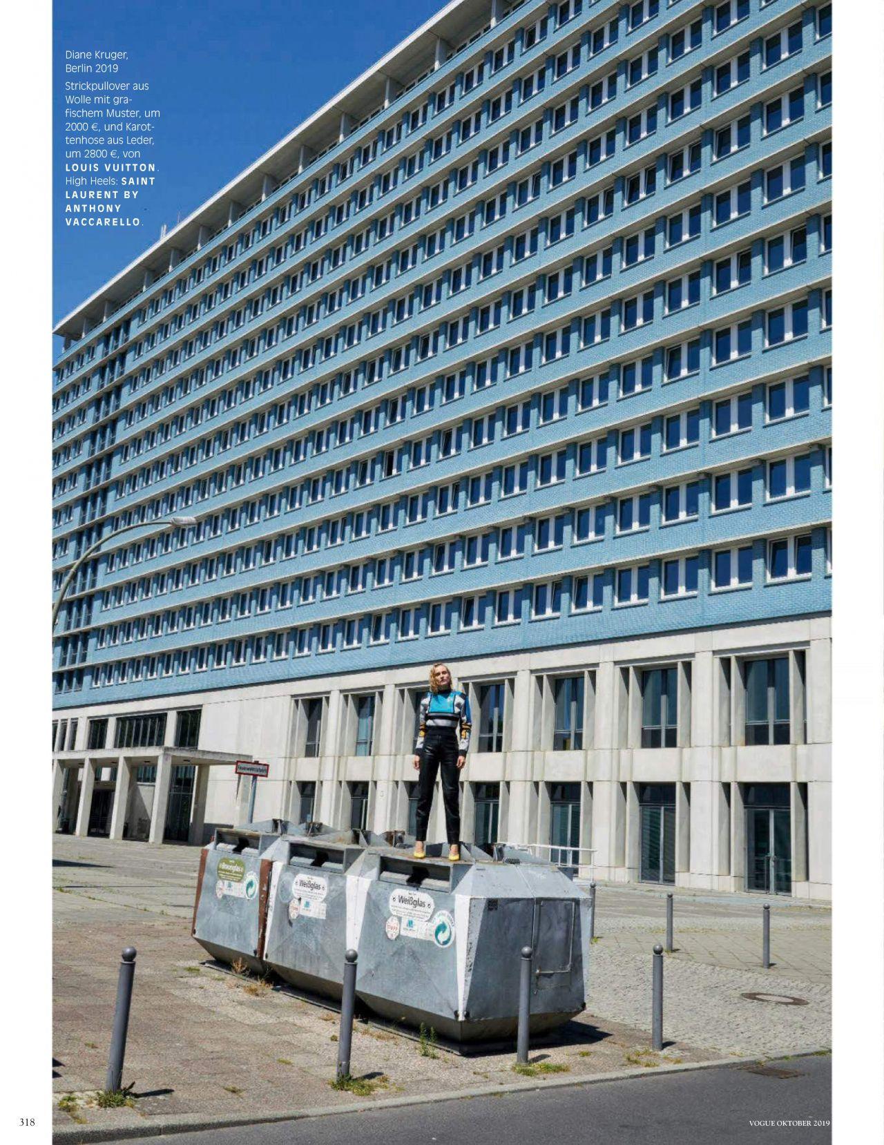 Диана Крюгер купается в фонтане в съемке немецкого Vogue (фото 11)