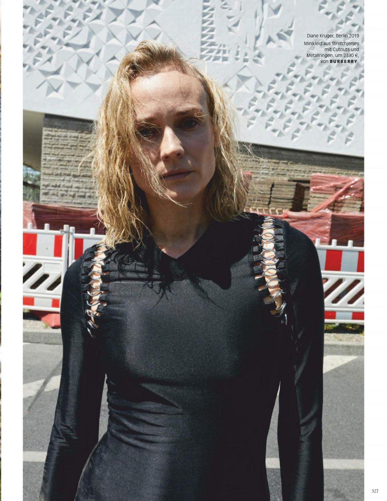 Диана Крюгер купается в фонтане в съемке немецкого Vogue (фото 13)
