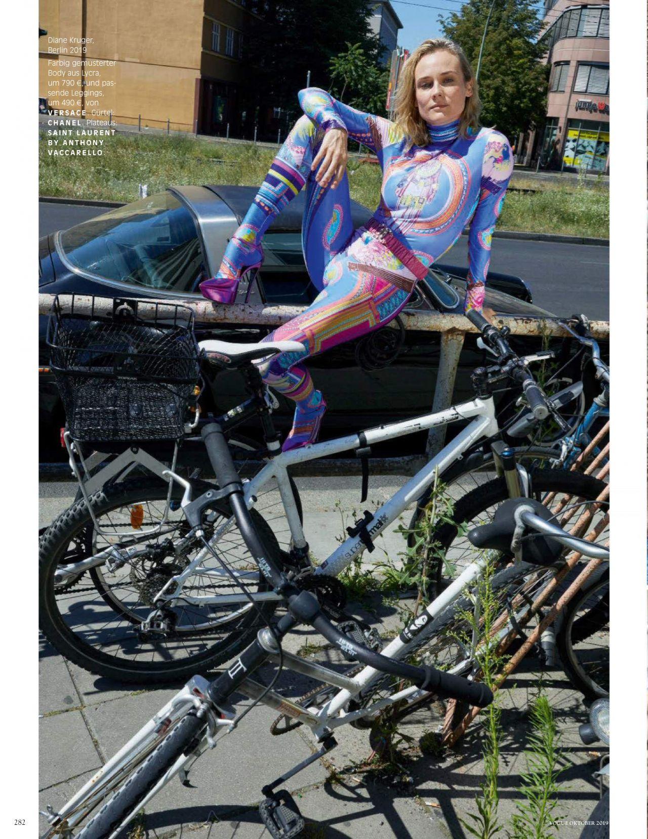 Диана Крюгер купается в фонтане в съемке немецкого Vogue (фото 5)