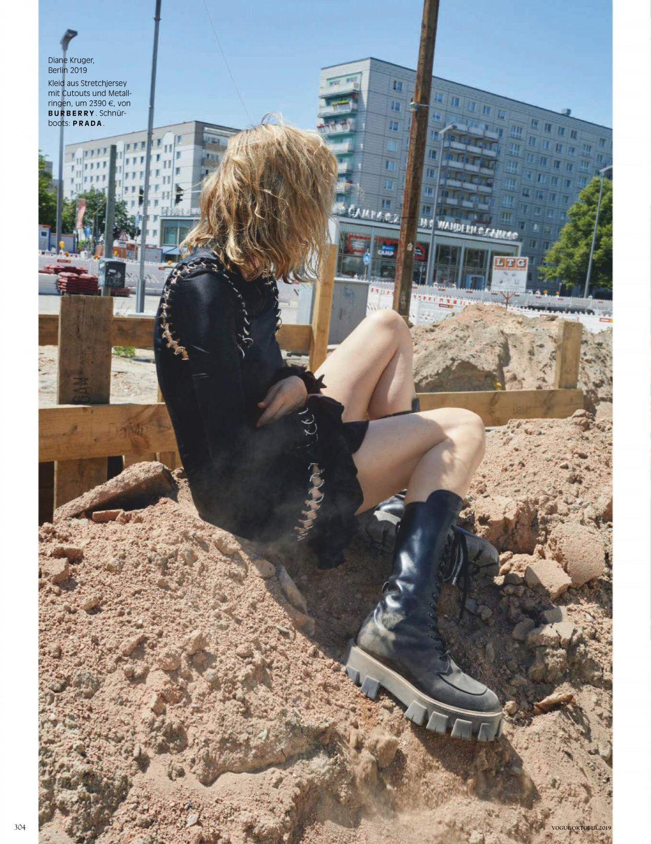 Диана Крюгер купается в фонтане в съемке немецкого Vogue (фото 7)