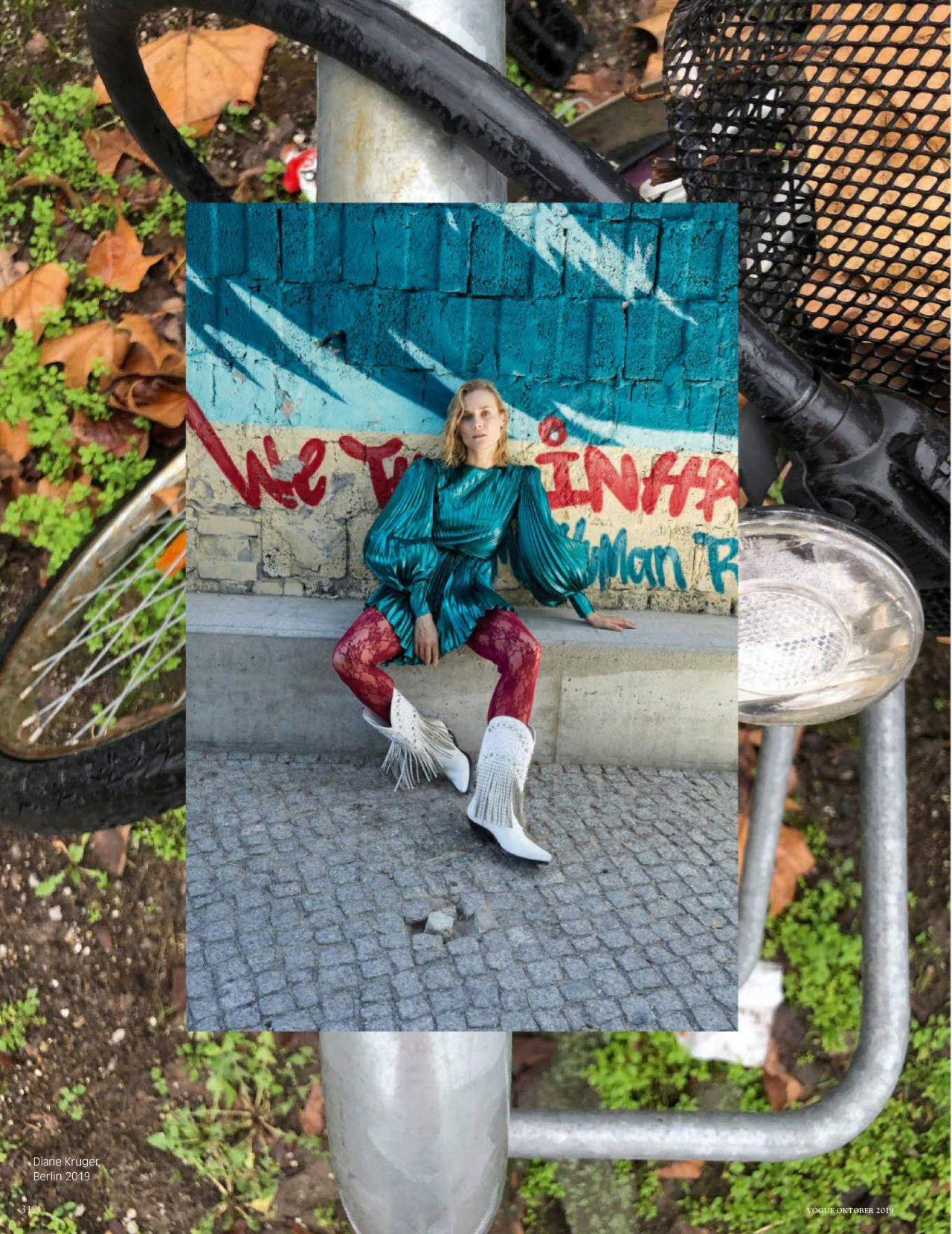 Диана Крюгер купается в фонтане в съемке немецкого Vogue (фото 9)