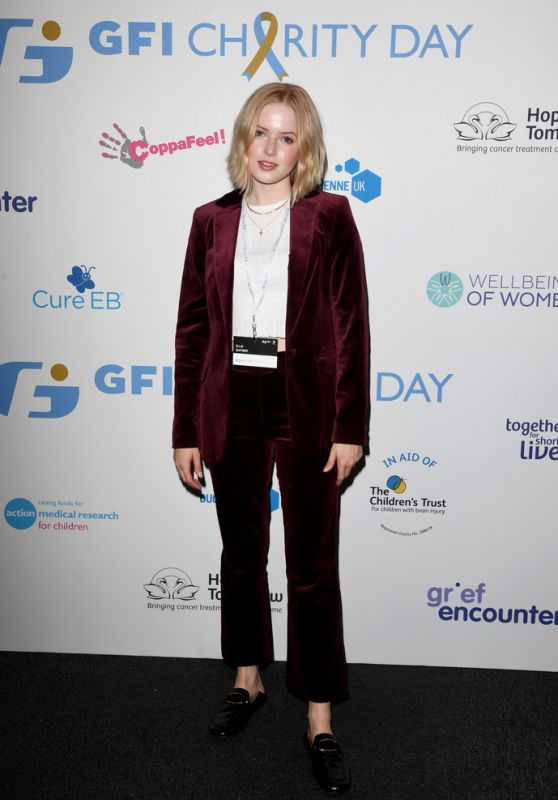 Ellie Bamber - Wellbeing of Women GFI Charity Day in London