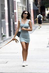 Emily Ratajkowski in Tight Dress - NYC 09/04/2019