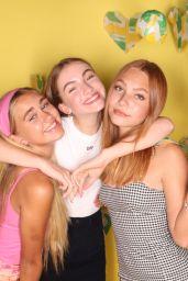 Emily Skinner, Nadia Turner and Lauren Orlando - Subway x Brat Launch Party Photobooth