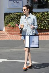 Emma Roberts - Shopping in West Holywood 08/30/2019