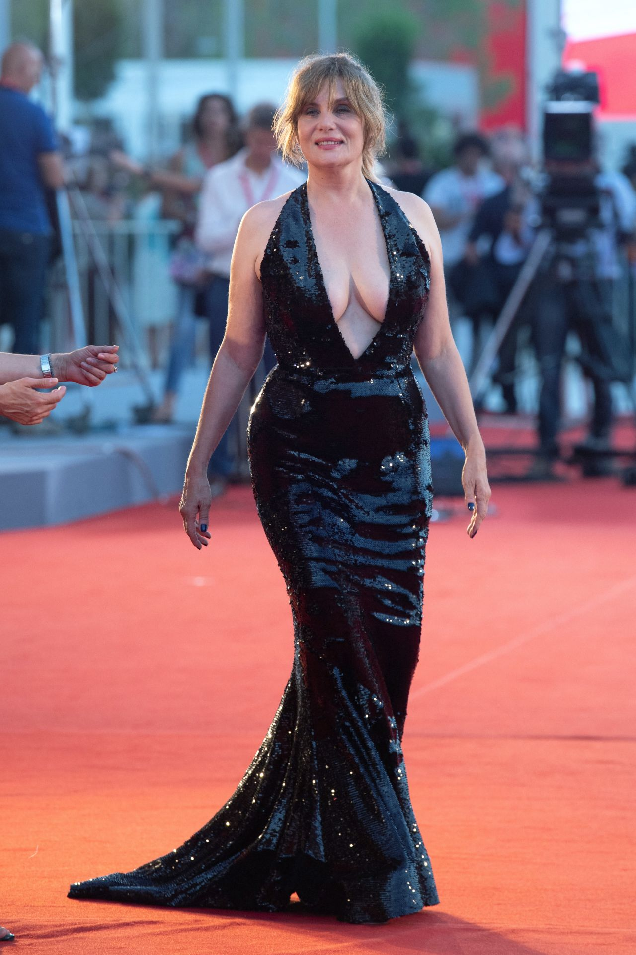 "Emmanuelle Seigner and Jean Dujardin - ""J'Accuse"" Premiere at the 76th  Venice Film Festival"