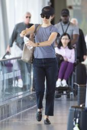 Emmy Rossum - JFK Airport in NYC 09/04/2019
