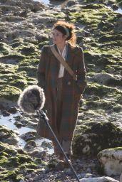 Gemma Arterton - On Set of a Project in London 09/13/2019