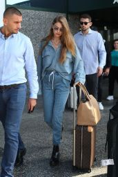 Gigi Hadid - Arriving in Milan 09/17/2019