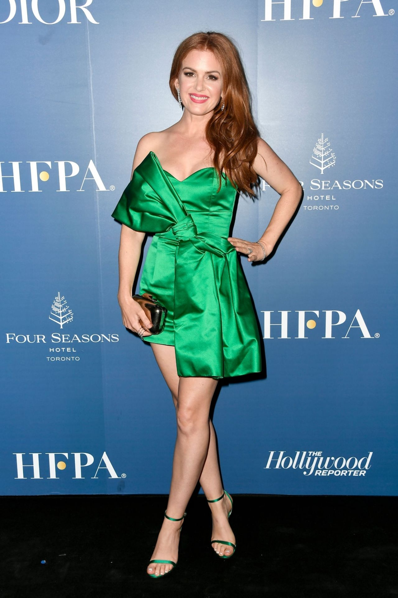 Isla Fisher fucking perfect in cute green dress and heels