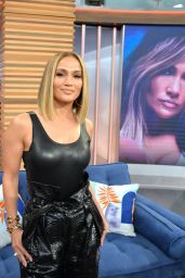 Jennifer Lopez in All Black at Despierta America in Miami 09/13/2019