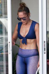 Jennifer Lopez in Gym Ready Outfit - Miami Beach 09/18/2019