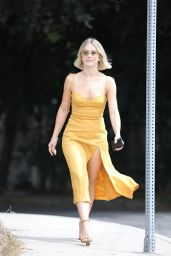 Julianne Hough in a Gold Leather Dress 09/15/2019
