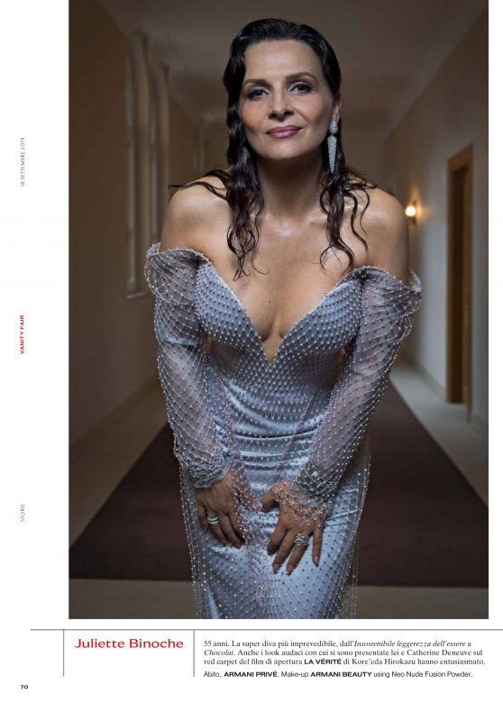Juliette Binoche - Vanity Fair Italy 09/18/2019 Issue