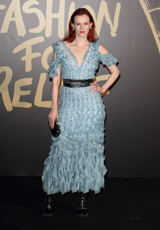 Karen Elson – Fashion For Relief at LFW 09/14/2019