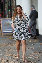 Kelly Brook in a Monochrome Cow Print Dress 09/04/2019