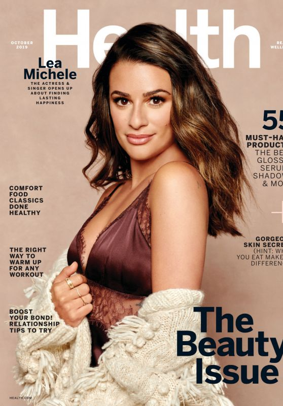 Lea Michele - Health Magazine October 2019 Issue