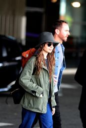 Lily Collins and New Boyfriend Charlie McDowell - Arriving in Paris 09/08/2019