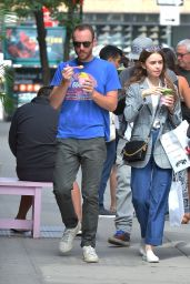 Lily Collins - Cha Cha Matcha in NYC 09/07/2019