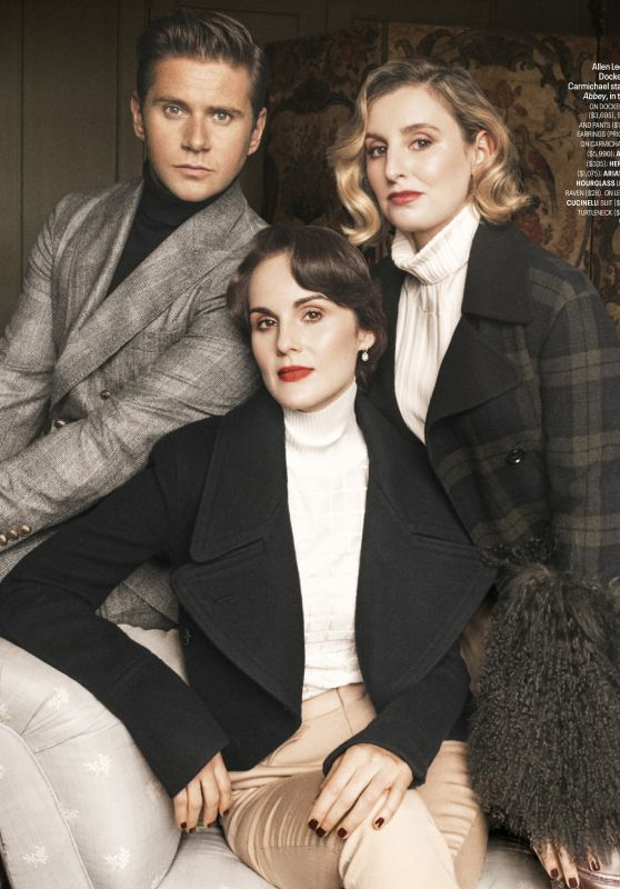 Michelle Dockery, Allen Leech, and Laura Carmichael - Town & Country Magazine October 2019 Issue