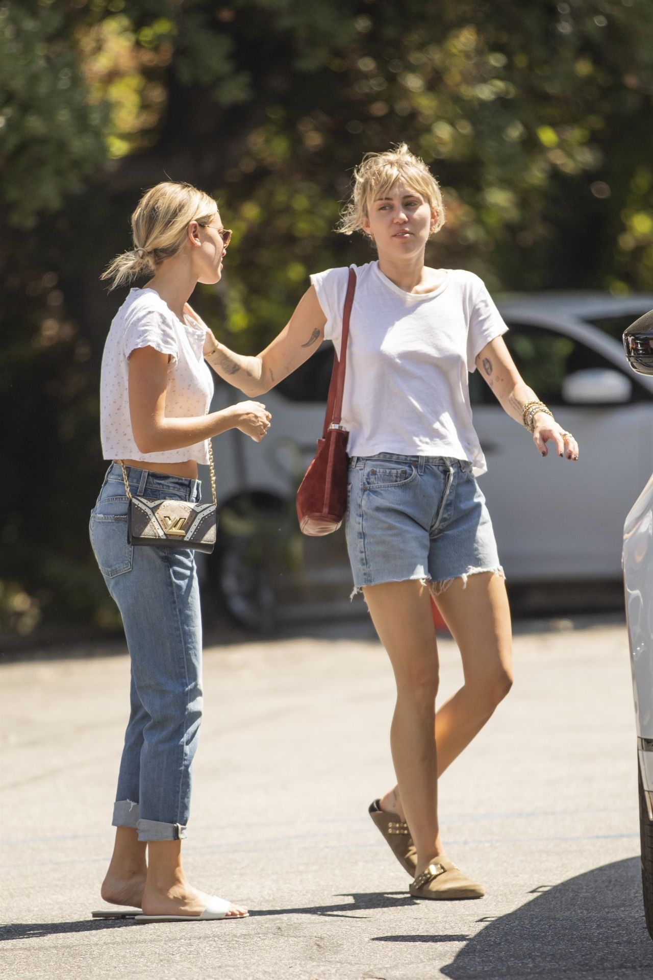 Miley Cyrus and Kaitlynn Carter - Out in Los Angeles 09/01 ...