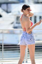 Nicole Williams in a Pair of Daisy Dukes and Bikini Top - Rollerblading in Marina Del Rey 09/19/2019