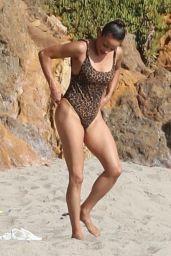 Paula Patton in a Swimsuit - Malibu Beach 09/24/2019
