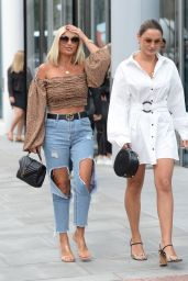 Sam Faiers and Billie Faiers - Leaving the ITV Offices in London 09/05/2019