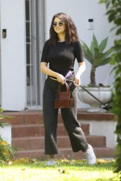 Selena Gomez in Casual Outfit - Visiting a Friend in LA 09/05/2019