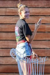 Thylane Blondeau in a Crop Top and Tiny Denim  09/11/2019