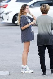 Thylane Blondeau Shows Off Her Legs - Shopping in LA 09/06/2019