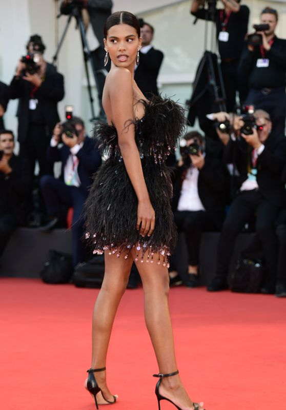 """Tina Kunakey – """"An Officer and a Spy"""" Premiere at the 76th Venice Film Festival"""