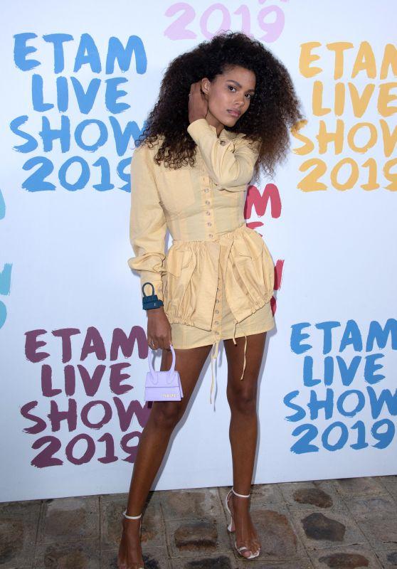 Tina Kunakey – Etam Show at Paris Fashion Week 09/24/2019