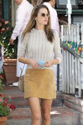 Alessandra Ambrosio at The Ivy in West Hollywood 10/01/2019