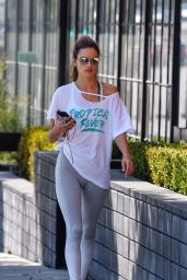 Alessandra Ambrosio in Leggings 10/16/2019