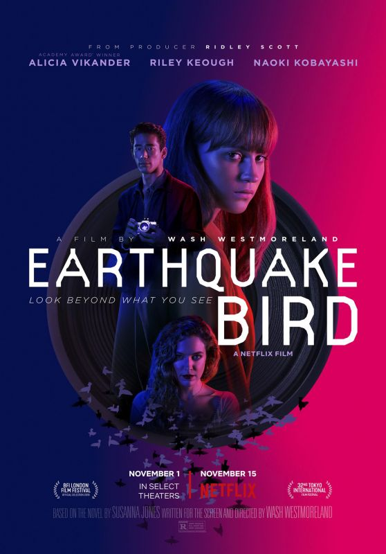 "Alicia Vikander - ""Earthquake Bird"" Poster and Photo"