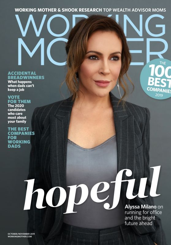 Alyssa Milano - Working Mother October 2019 Issue