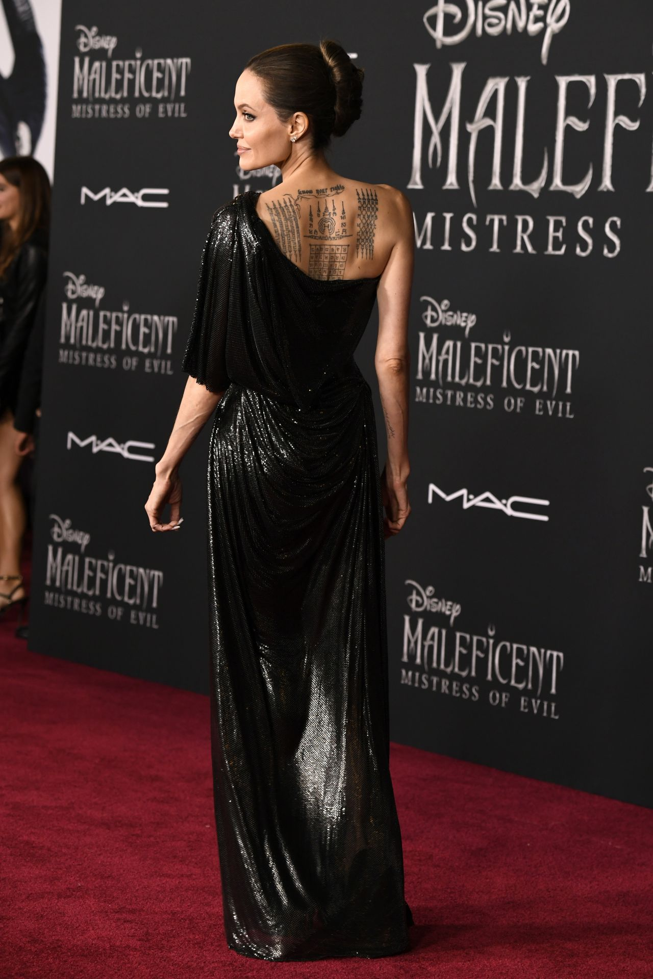 Angelina Jolie In A Black Dress Maleficent Mistress Of
